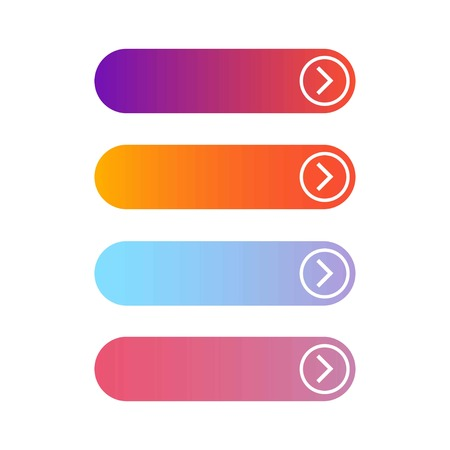 Empty four web buttons on a white background, vector