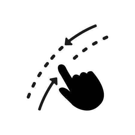 Swipe up down icon. Move finger sign. Touch technology symbol. Quality design element. Classic style icon. Vector illustration