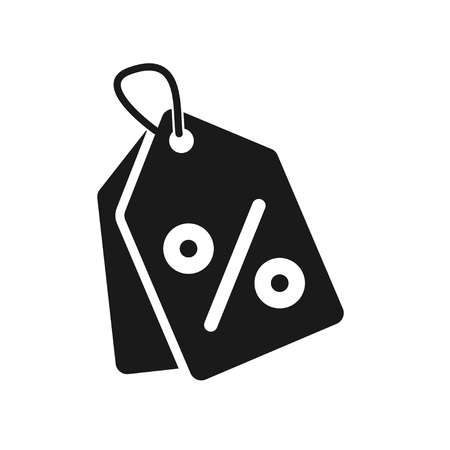 Shopping tags simple icon. Special offer sign. Discount coupons symbol. Quality design elements. Classic style. Vector illustration