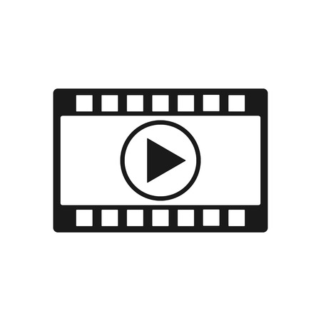 Video vector icon on white background, vector