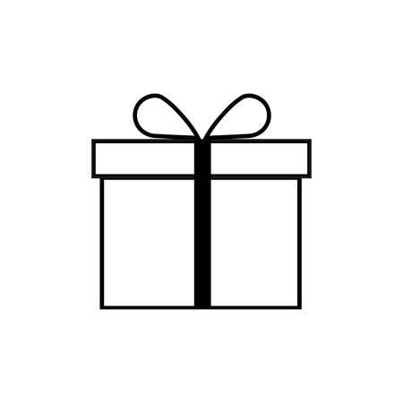 Gift Box icon vector. Present, vector