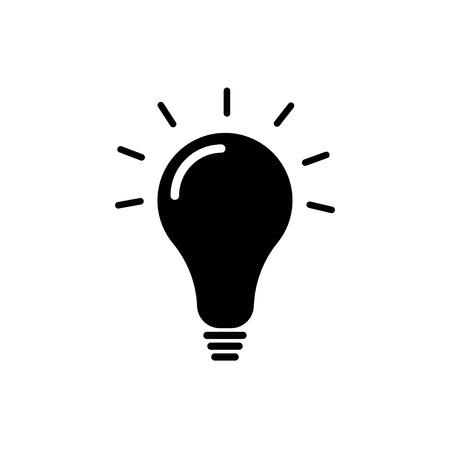 Light bulb vector icon Иллюстрация