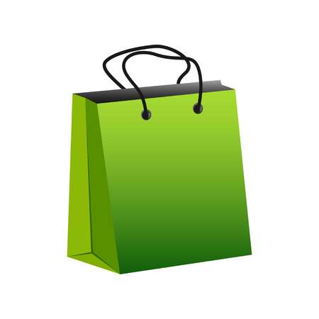 shopping bag symbol isolated, vector