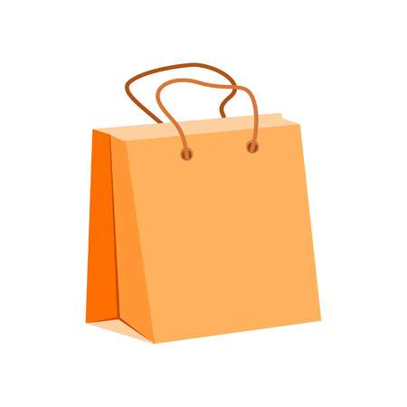 shopping bag symbol isolated on white background, vector