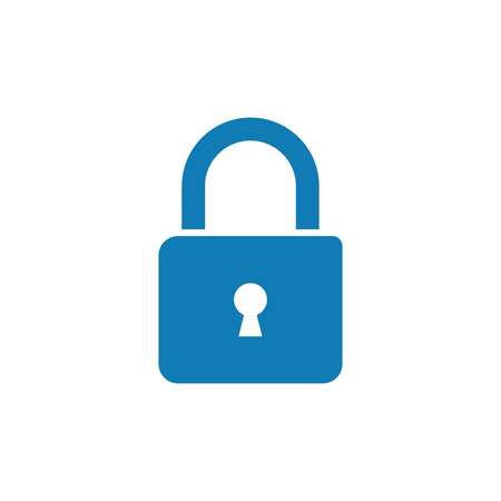 Lock icon, vector illustration on white background.