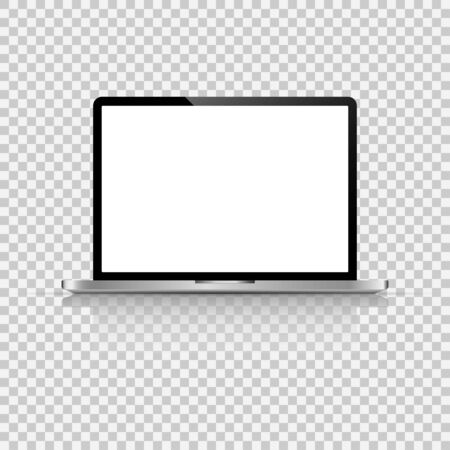 Modern glossy laptop isolated vector
