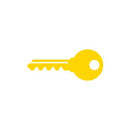 Key icon, vector illustration yellow color Illustration