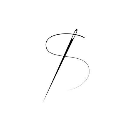 Needle icon. Flat vector illustration