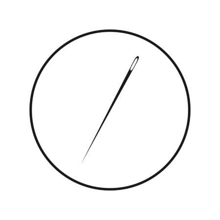 Needle icon. Flat vector illustration on white background. Ilustração