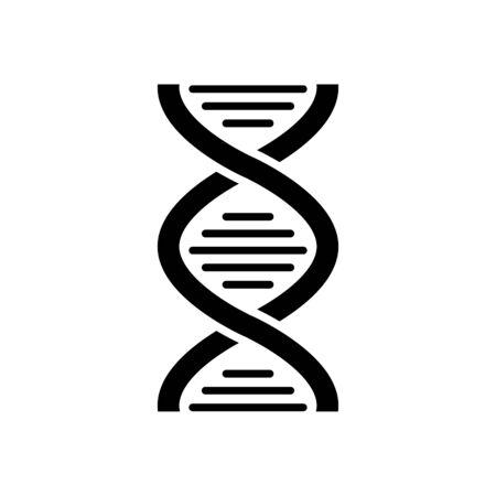 DNA Helix Icon Vector Illustration Vetores