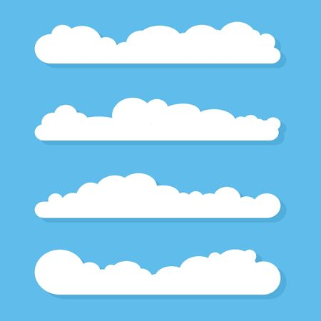 Clouds icon, vector illustration. Cloud symbol four different clouds
