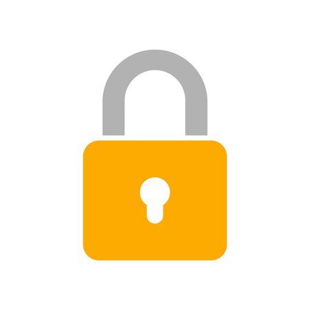 Lock icon, vector illustration Stock Illustratie
