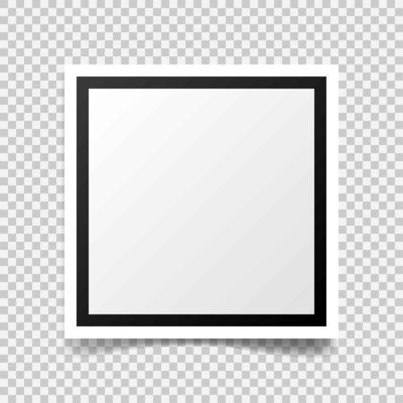 Vector Photo frame mockup design
