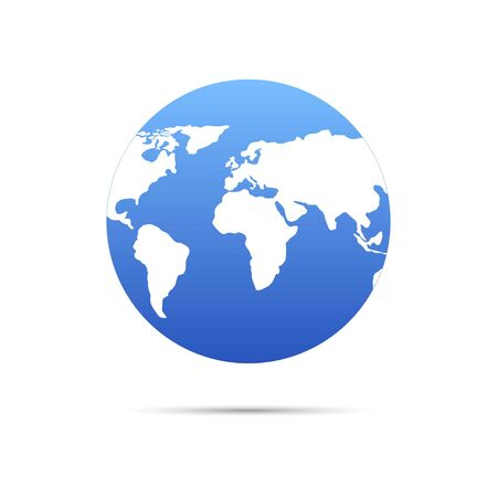 Vector planet Earth icon. Flat planet Earth icon.