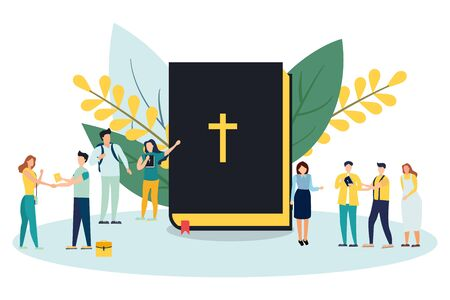 bible concept isolated on white background. Vector illustration. Eps 10.