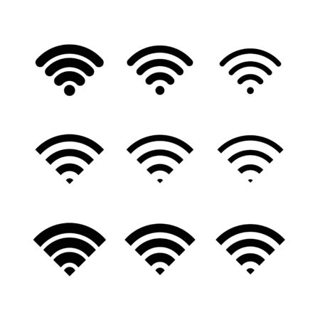 Wifi icon of different types, vector