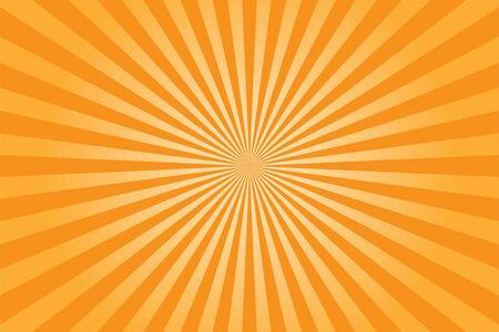 Yellow shiny starburst background. Vector illustration. Vector Illustration