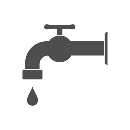 Tap water vector illustration, Hygiene solid design icon.