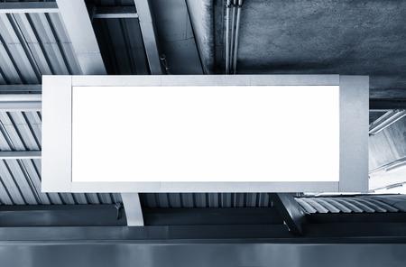 billboard: Blank Billboard Banner light box Display in station