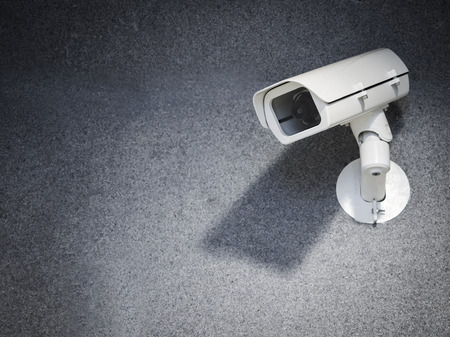 Security camera equipment on wall Safety system area control Standard-Bild
