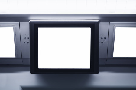 mocked: Blank Lcd screen light box template display Commercial Ads