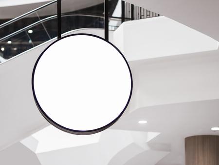 Mock up Signage circle shape Retails business