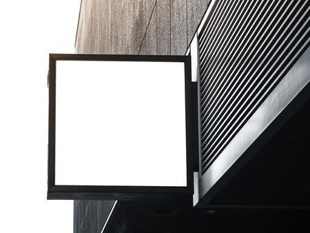 mocked: Signboard shop Mock up square shape display