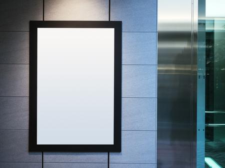 spot light: Mock up Poster Frame with Spot light Interior Background