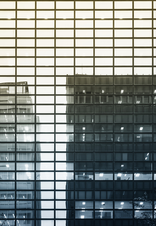 reflect: Architecture detail Modern Glass facade reflect Building Stock Photo