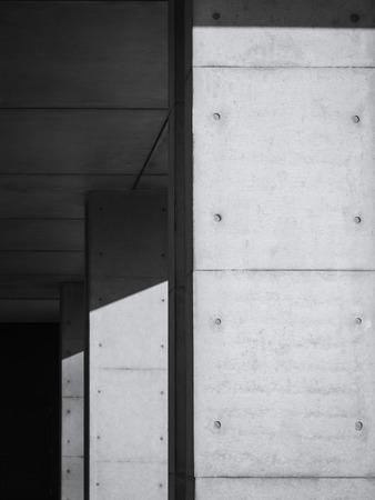 アーキテクチャ詳細現代構造黒と白 写真素材