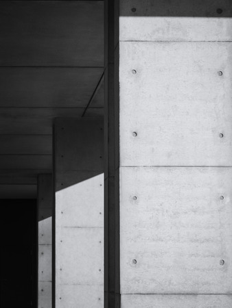 architectural lighting design: Architecture detail Modern structure Black and White