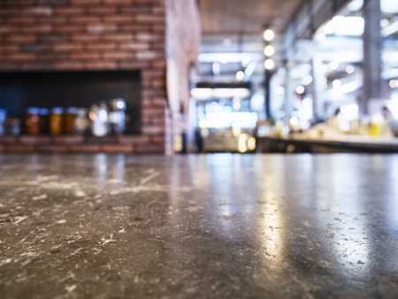 counter top: Table top with Brick oven Pizza Restaurant Background