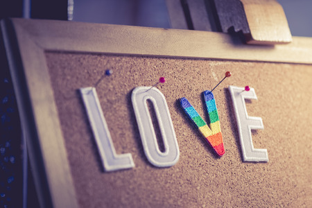 embroider: Love Alphabet Art and Craft object decoration background Stock Photo