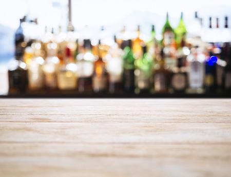 Tischplatte Zähler Unscharfe Bar Restaurant Hintergrund