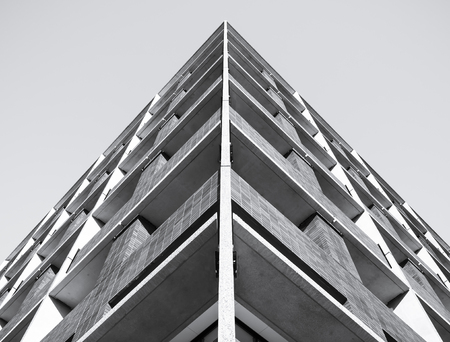 Architektura szczegółowo Nowoczesny budynek deseń tła