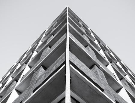 Architettura Particolare della costruzione moderna di fondo del modello Archivio Fotografico - 54066952