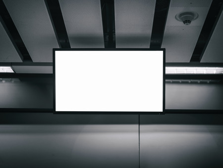 mocked: Blank LCD Screen display mock up banner indoor