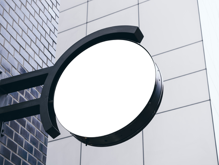 shop sign: Signboard shop Mock up Circle shape