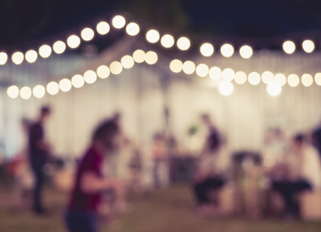 人と祭りイベント パーティぼやけて背景
