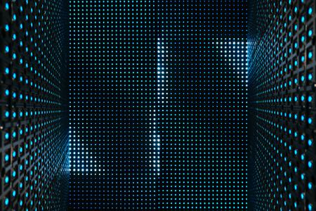 Led light digital Pattern Technology system Abstract background Фото со стока
