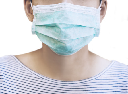 dust mask: Patient with Medical Mask Dust allergy protection Health care