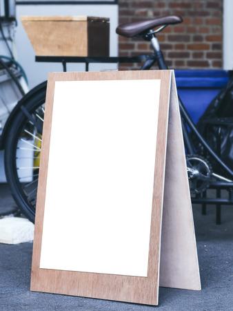 mocked: Signboard stand Mock up Poster Frame Flea market shop front