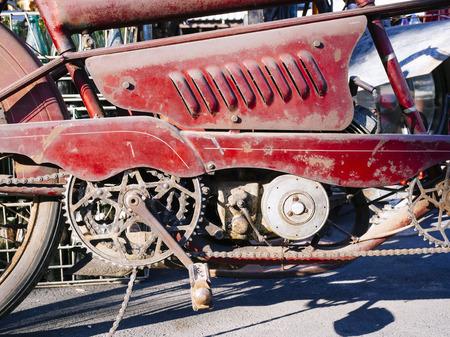 mocks: Motorcycle Engine Part Close up Vintage object Stock Photo