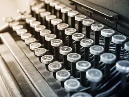 used: Antique Typewriter Vintage object Background Stock Photo