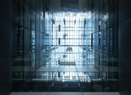 détail de l'architecture moderne façade verre acier pour le bâtiment Perspective