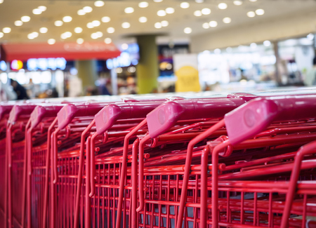 retail shopping: Supermarket Trolley Cart Shopping Consumer Retail Business concept