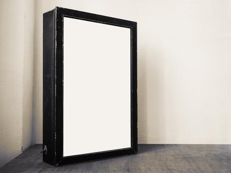 Mock up Billboard Light box Zwart frame Indoor Media technologie