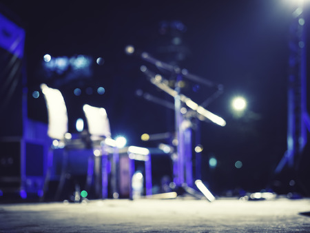 音楽祭イベント マイクぼやけてコンサート ステージを生きる音楽の背景