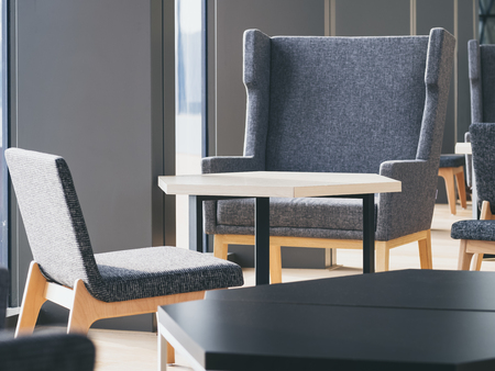 waiting area: Chairs and Table Interior Lobby Room Decoration