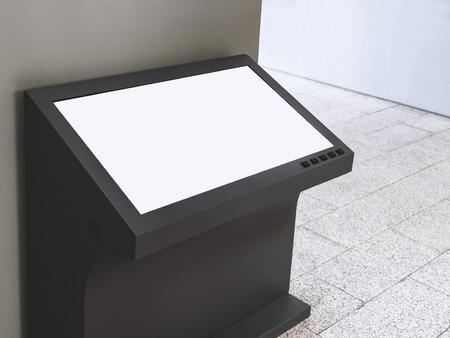 看板スタンド空白画面の情報表示をモックアップします。
